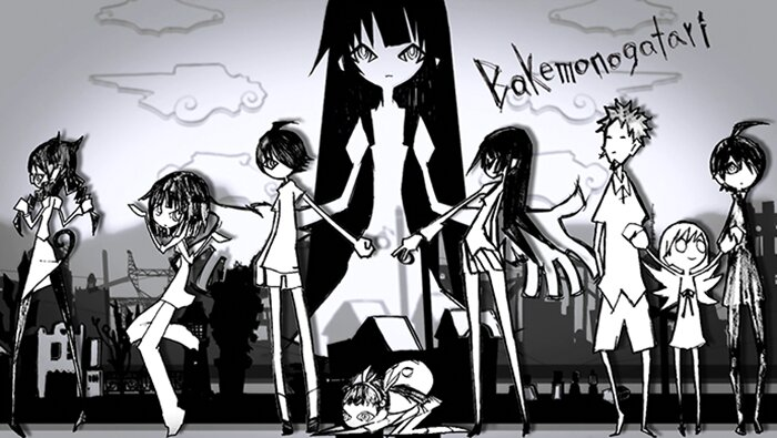 Ilustración ending Bakemonogatari