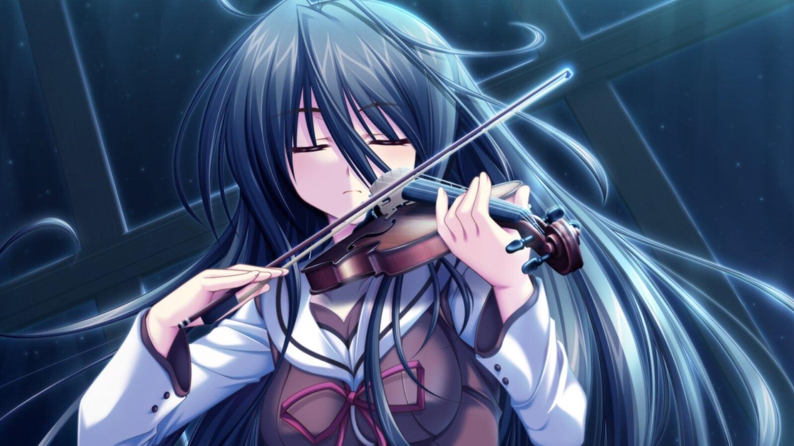 Haru tocando el violín