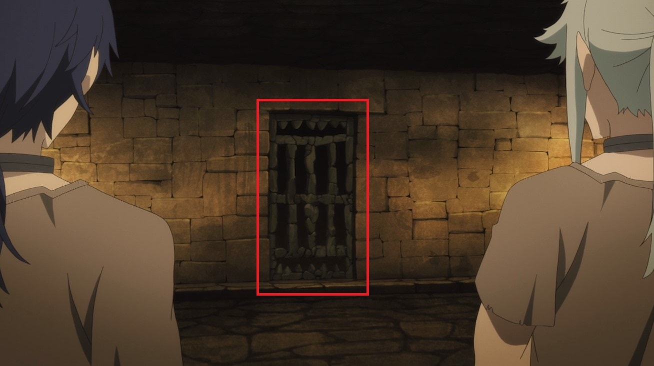 Diseño puerta cárcel YU-NO anime