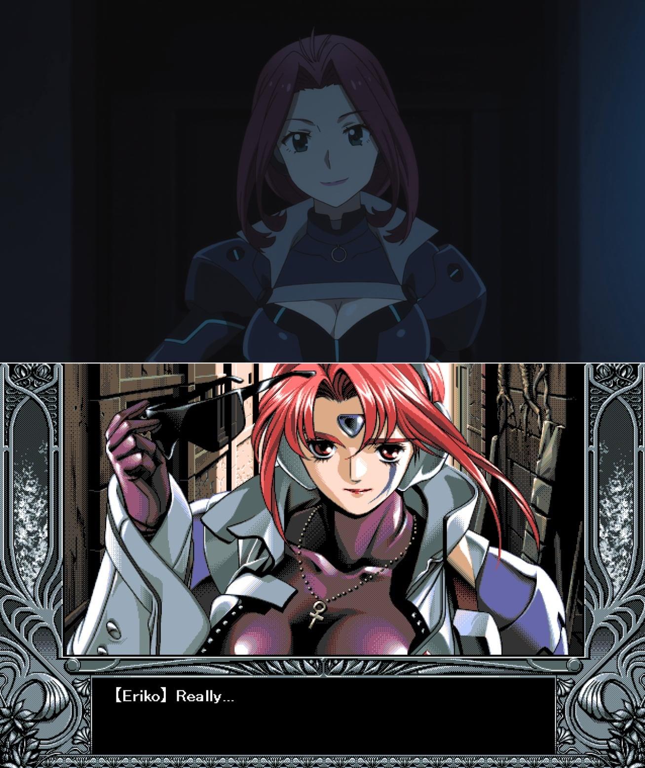 Comparación Eriko-sensei anime y visual novel