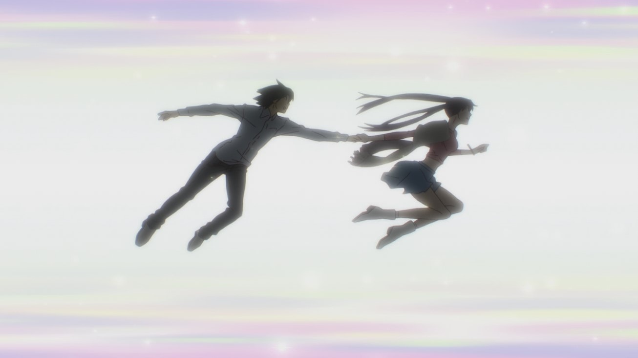 Araragi y Hitagi en Zoku Owarimonogatari