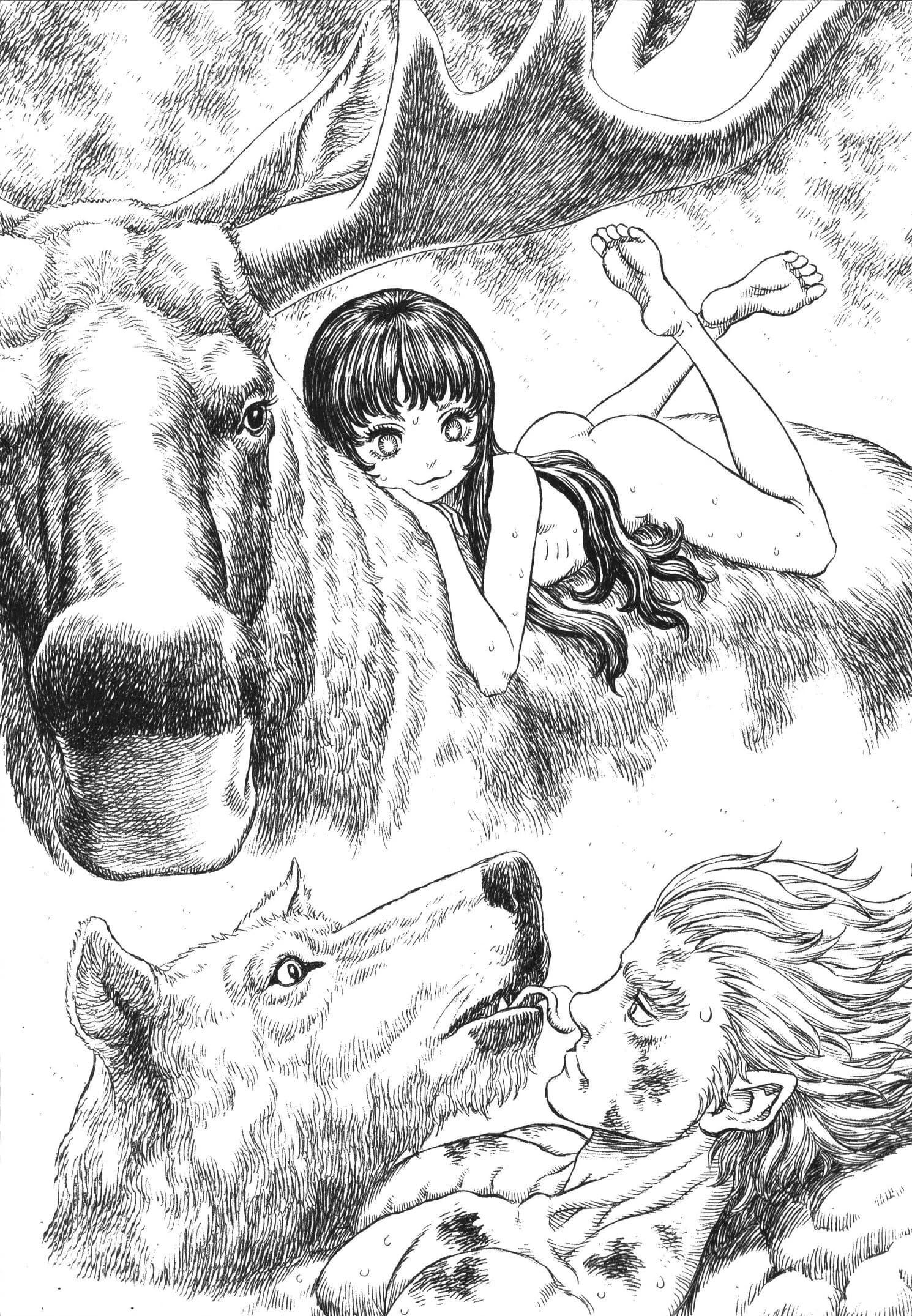 Ilustración Grunbeld Berserk: El Caballero del Dragón de Fuego