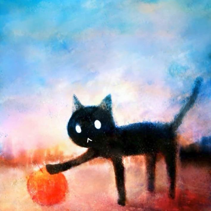 Gato negro Subarashiki Hibi Zakuro