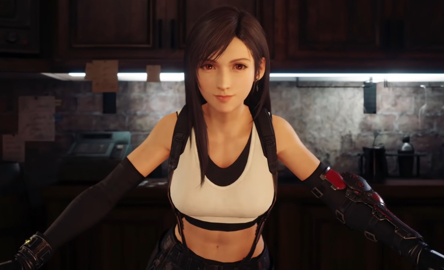 "El personaje de Tifa en el ""remake"" de ""Final Fantasy VII"". Final Fantasy VII: On the Way to a Smile comprar novela"