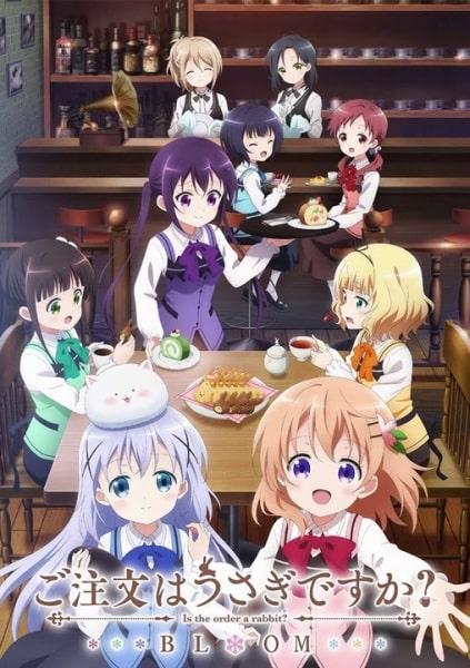 Gochuumon wa Usagi Desu ka? Bloom Tercera temporada anime slice of life temporada otoño 2020 estrenos esperados