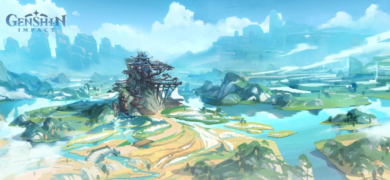 """Arte conceptual de """"Genshin Impact""""."""