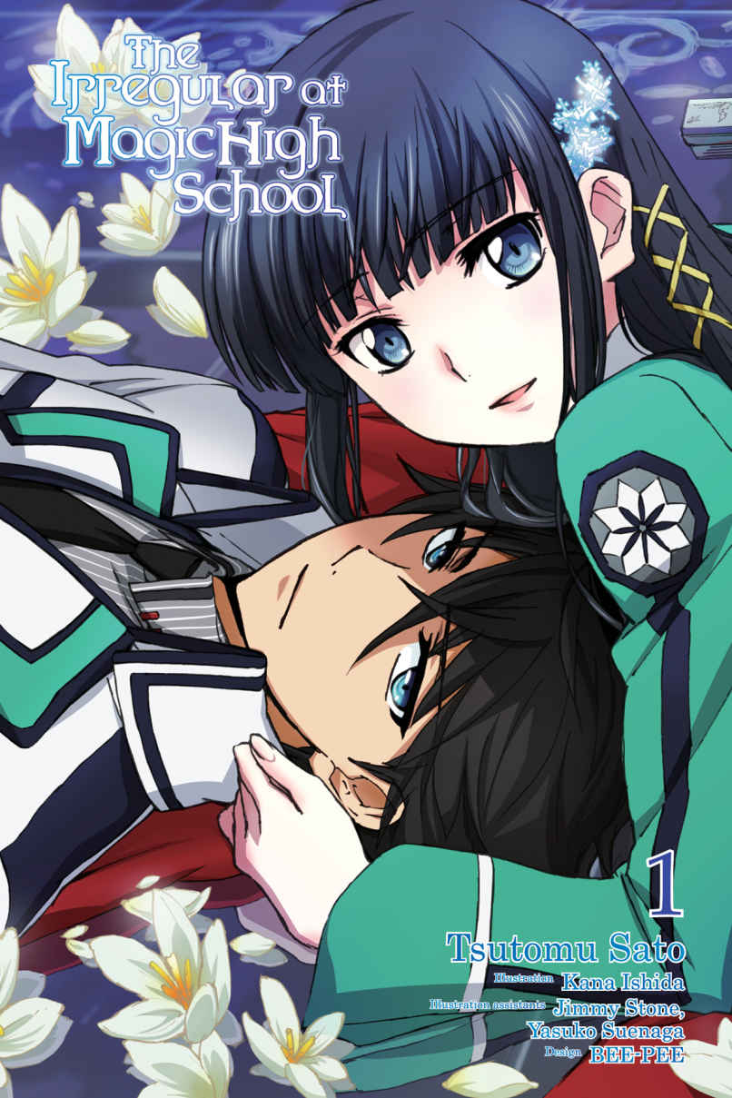 "Ilustración del Vol. 1 de ""The Irregular at Magic High School"", obra de Kana Ishida."