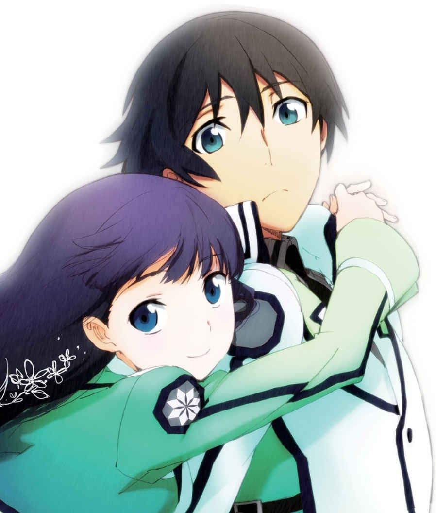 """Miyuki Shiba y Tatsuya Shiba, los hermanos protagonistas de """"Mahouka Koukou no Rettousei"""". Ilustración de Kana Ishida para el Vol. 7 de las novelas ligeras."""
