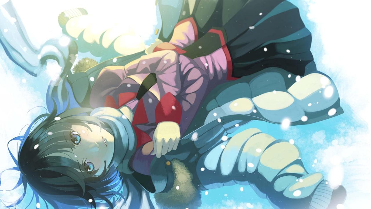 """Ilustración de Hitagi Senjogahara, obra de VOFAN, que pertenece a """"Koimonogatari""""."""