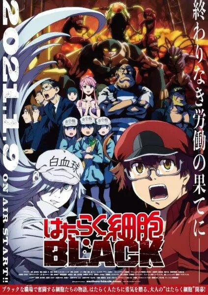 Hataraku Saibou Black (TV) Mejores estrenos de anime invierno 2021