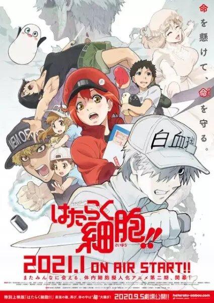 Hataraku Saibou!! Segunda temporada mejores estrenos anime invierno 2021
