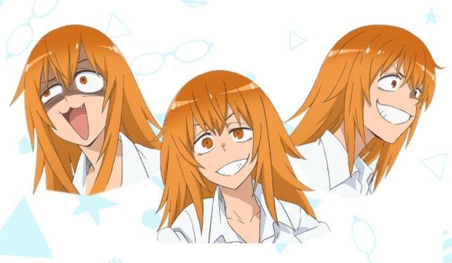 Diseño de los siguientes personajes en orden descendente: Nagatoro-san, su senpai, Gamo-chan, Yoshi y Sakura. Tráiler y fecha de estreno del anime de Ijiranaide, Nagatoro-san!