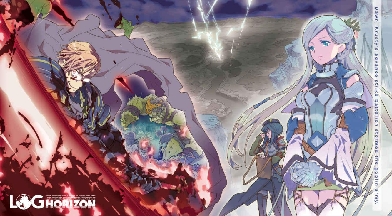 """Arte a color del Vol. 4 de """"Log Horizon"""". Todas las ilustraciones originales se incluyen en la edición de Yen Press."""