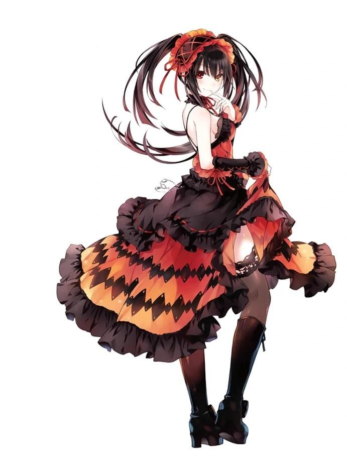 """Kurumi Tokisaki, la primera """"waifu"""" de miles y miles de """"otakus"""", siempre hermosa y divina. Ilustración obra de Tsunako para el Vol. 16 de """"Date A Live""""."""